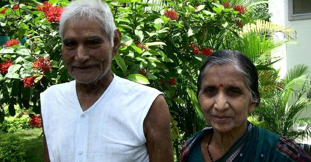 Magsaysay Awardee and Padm Vibhushan Baba Amte with Wife Sadhna