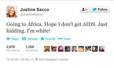 The tweet that ruined Justine Sacco's life