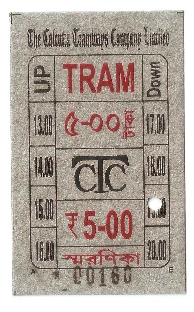 Tram Museum Ticket Of Kolakata