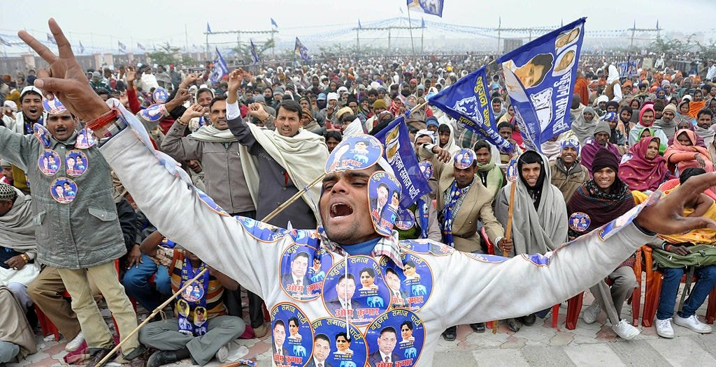 BSP Supporter in an election rally