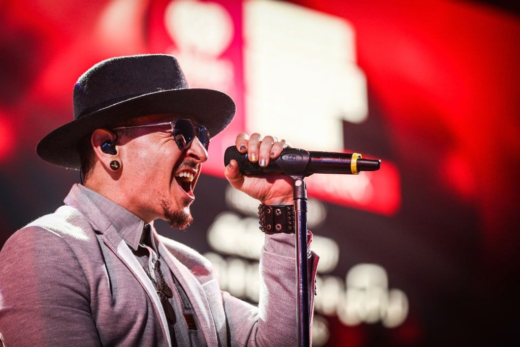 Chester Bennington, the frontman of the American rock band Linkin Park