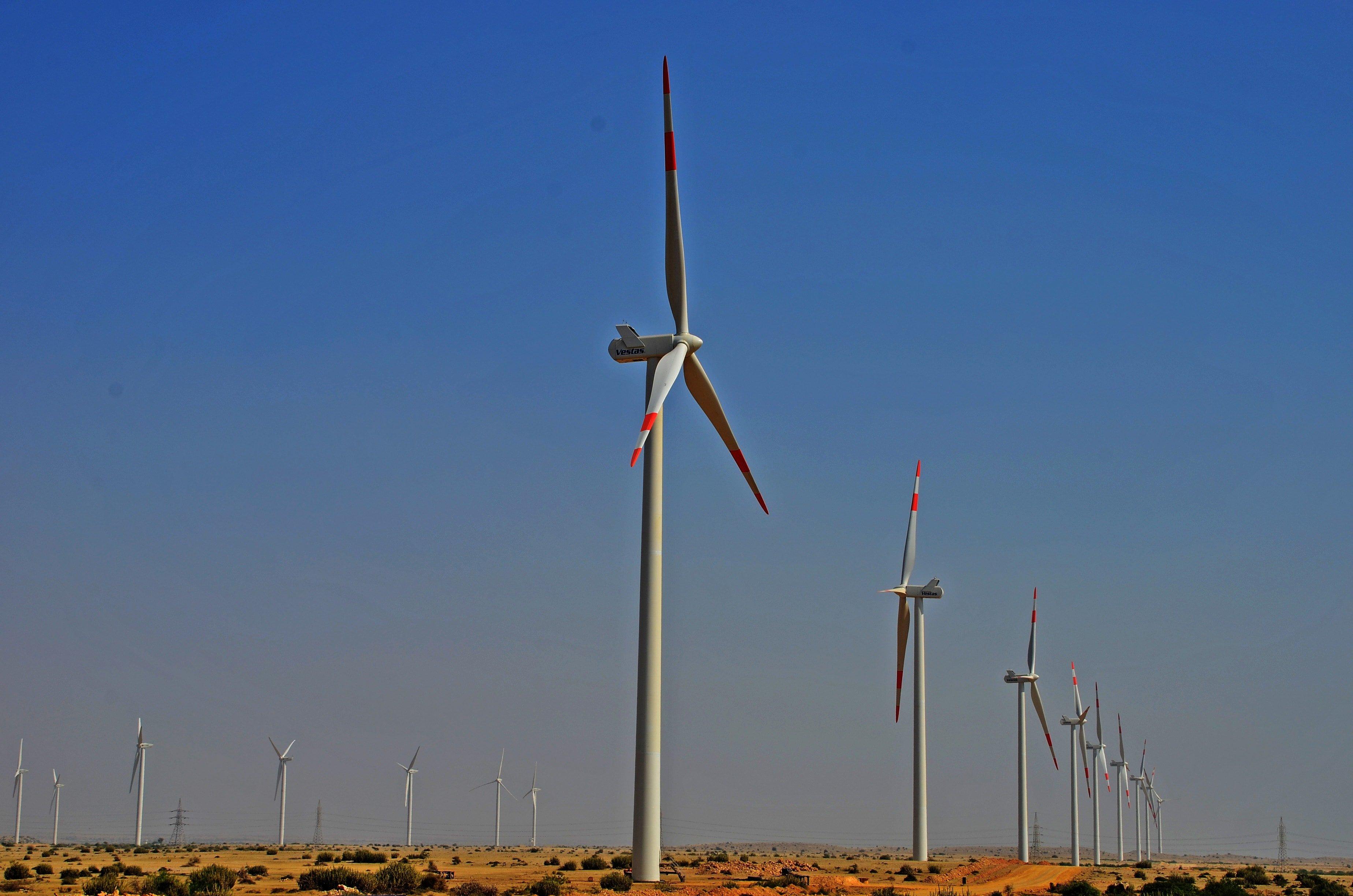 Jhimpir wind farm in Sindh, Pakistan