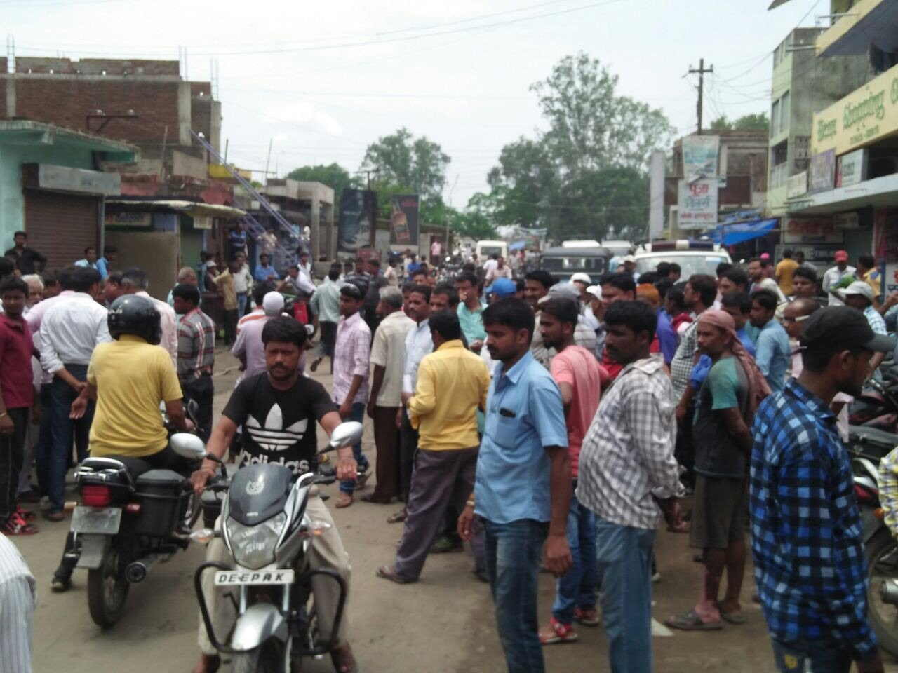 Mob At The Site Of Bokaro Mob Violence