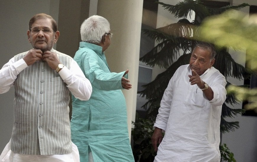Lalu Sharad and Mulayam Yadav Together