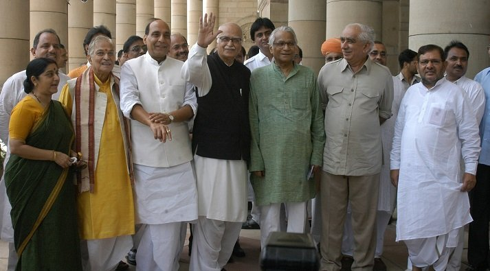 Sharad Yadav With George Fernandis And BJP Leaders