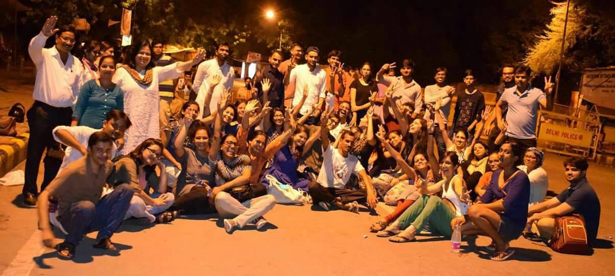 Meri Raat Meri Sadak At Jantar Mantar Delhi