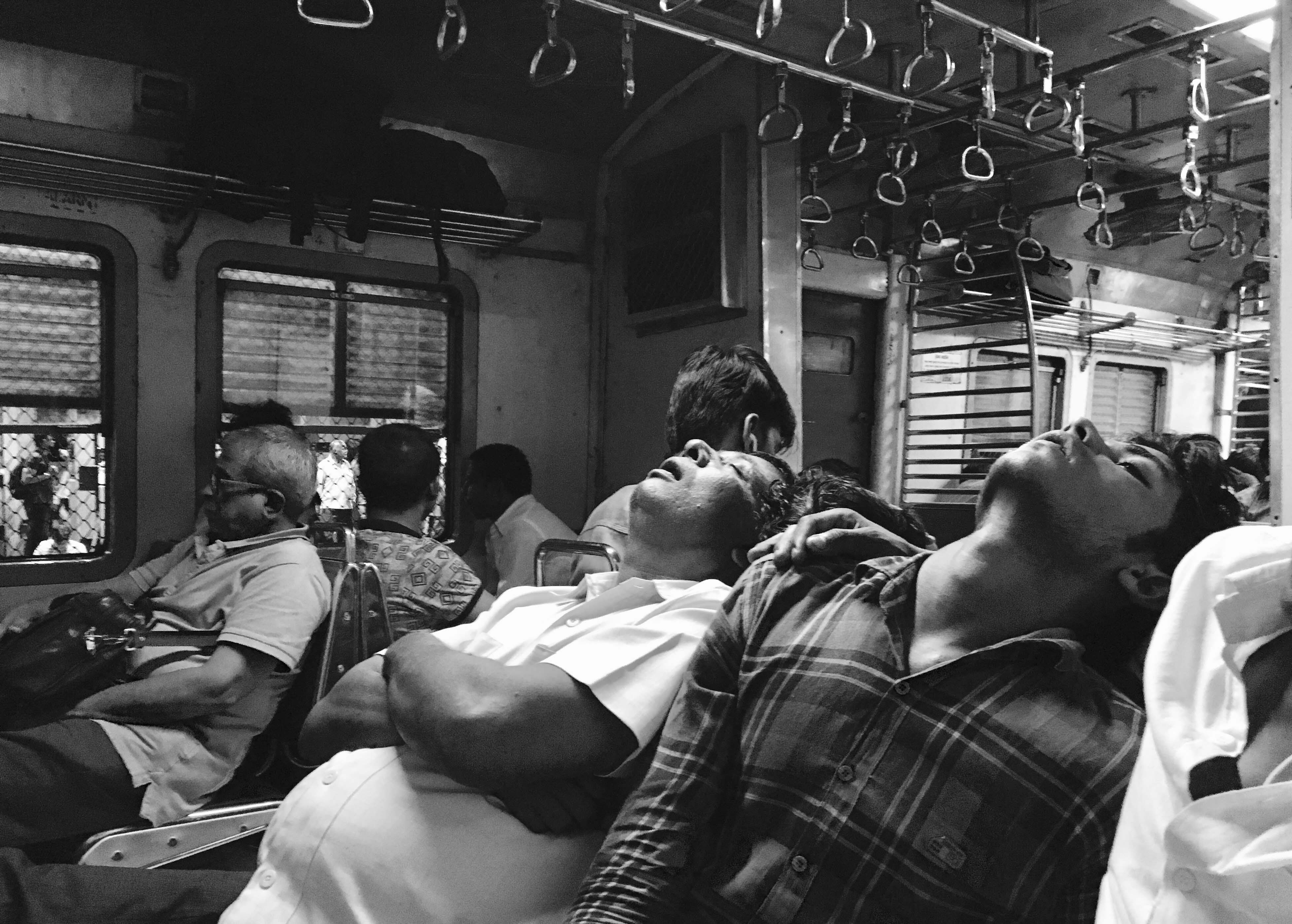 Sleeping In Mumbai Local