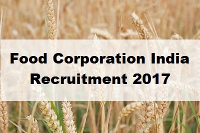 FCI UP Recruitment 2017