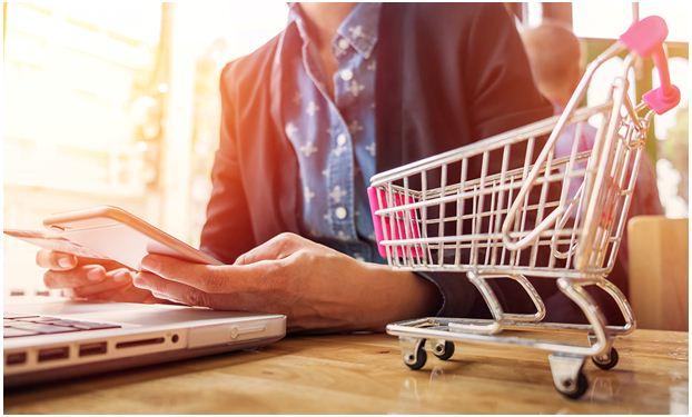 shopping online, shopping offline