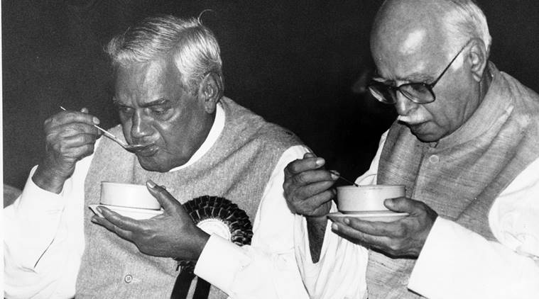 Image result for atal bihari vajpayee and advani in 1977