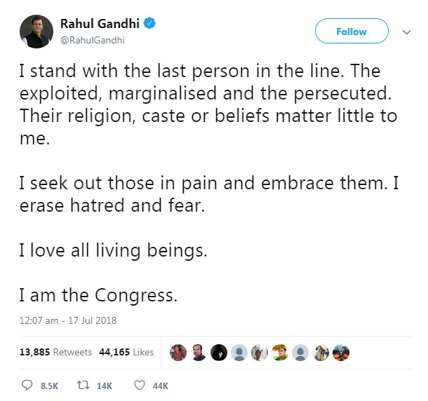 Rahul Gandhi Hugging Modi Was An Act Of Humanity We Must All Learn