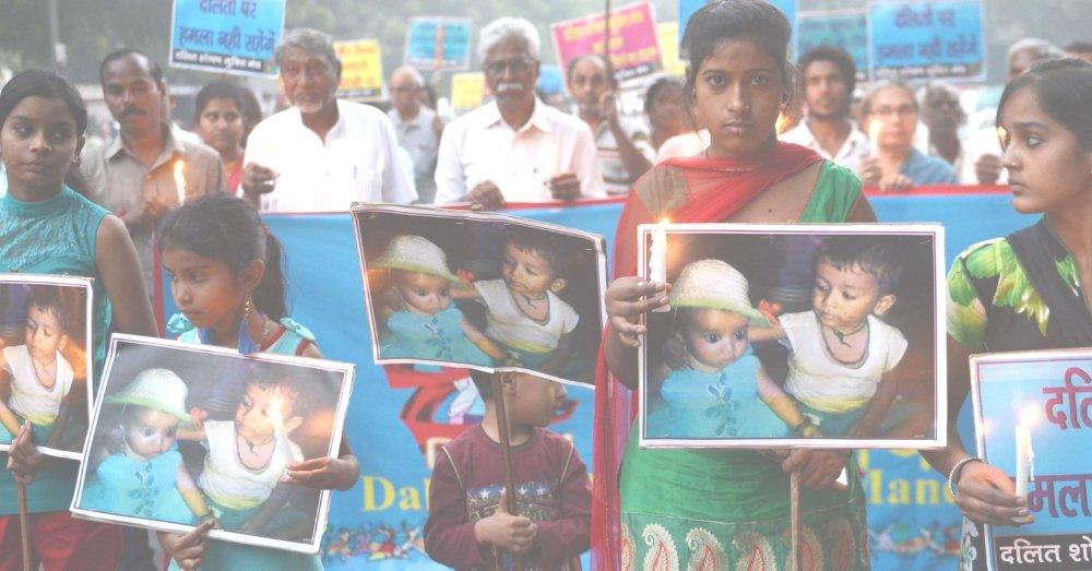 दलितों के खिलाफ हिंसा रोकने के लिए प्रदर्शन