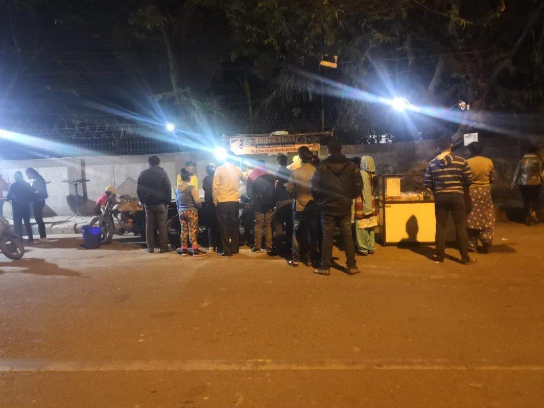 Indra Devi food stall in Janakpuri, New Delhi