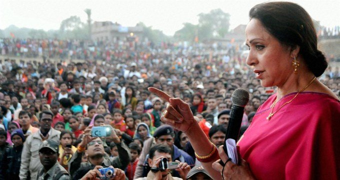 Hema Malini in Election Rally
