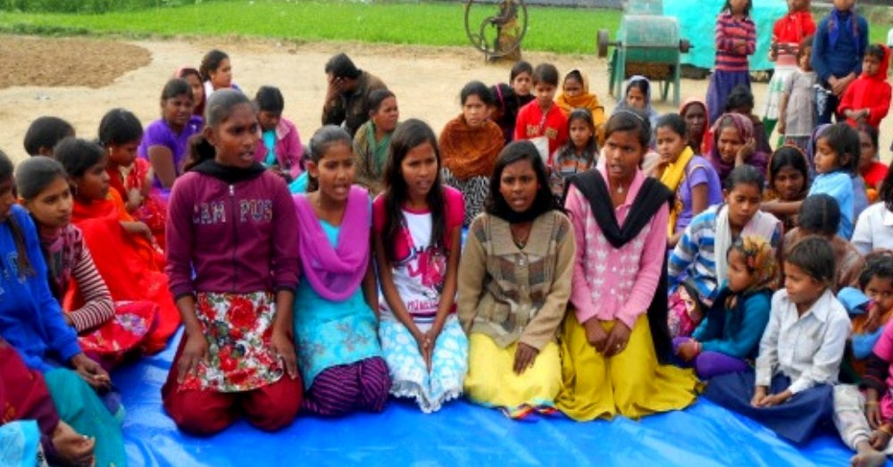 Bihar Girl's Football Team