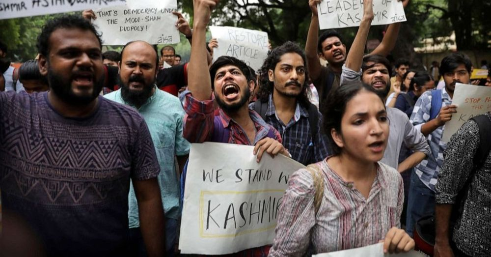 Protesting Abrogation of Article 370 Kashmir