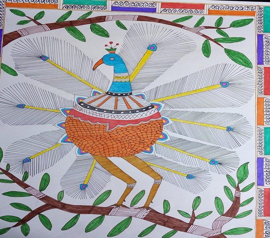 मधुबनी पेंटिंग। फोटो साभार- नितेश कुमार सिन्हा।