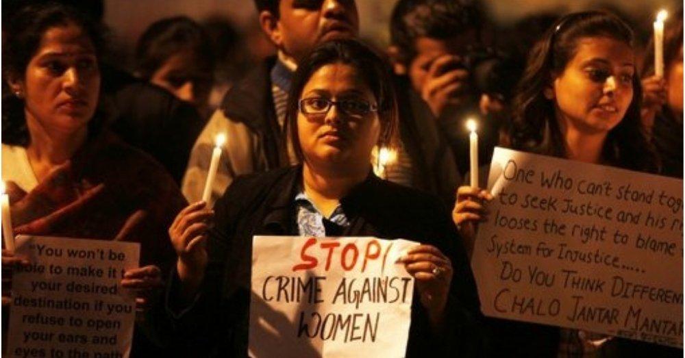 महिलाओं के खिलाफ होने वाली हिंसात्मक घटनाओं का विरोध प्रदर्शन। फोटो साभार- सोशल मीडिया