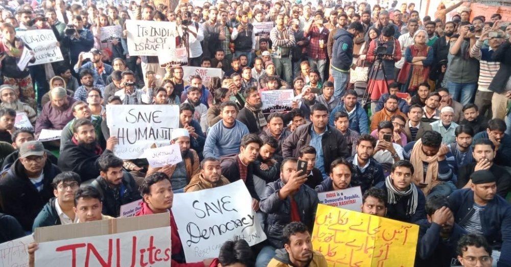 सिटिज़नशिप अमेंडमेंट बिल के खिलाफ विरोध प्रदर्शन। फोटो साभार- सोशल मीडिया