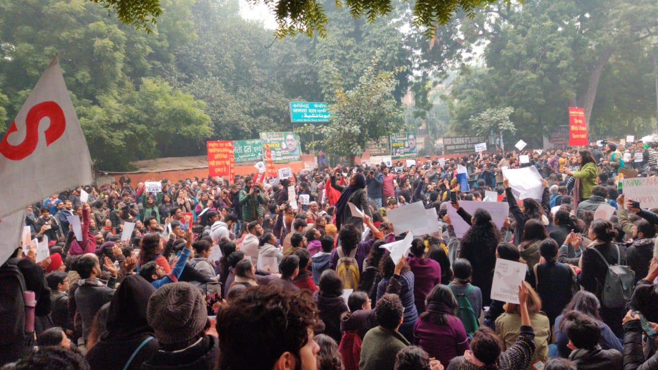 Protestors at Jantar Mantar, raising voice against CAA- NRC