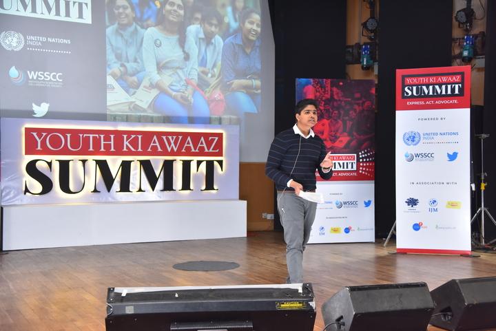Young Climate Activist Aman Sharma at YKA Summit 2019