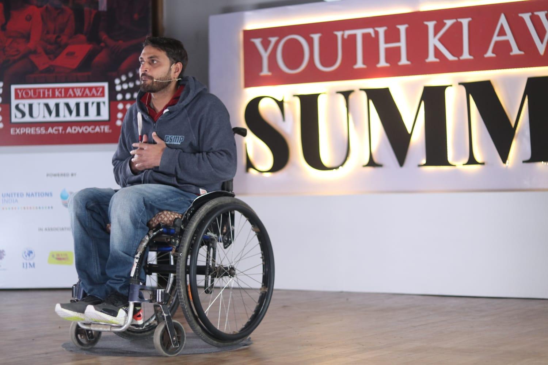 Para-athlete Shams Aalam at YKA SUmmit 2019