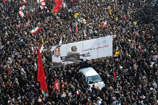 Mourners pay homage to Iranian leader Quassem Suliemani
