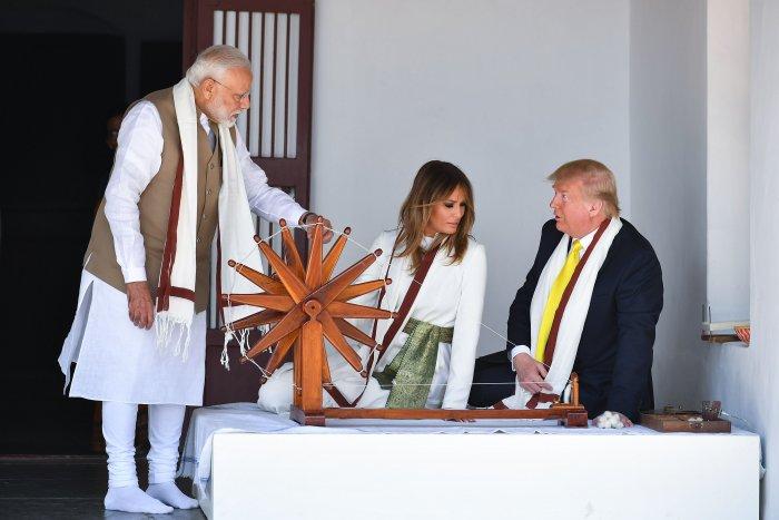 Trump at Gandhi Ashram