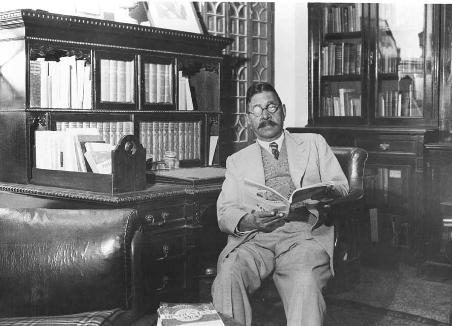 The late Dr. Sachidanada Sinha in his library.