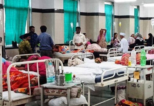 Hospital with coronavirus patients