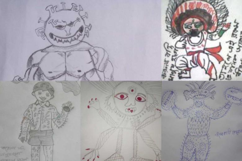 Utthan Covid Drawings
