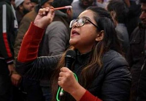 Safoora at a protest