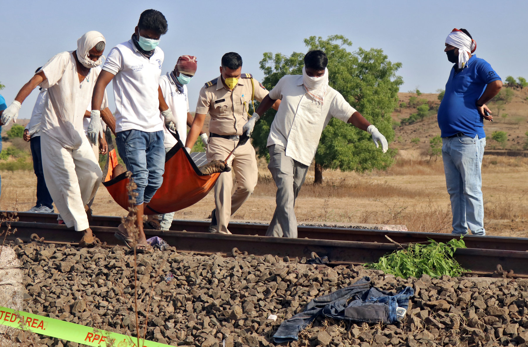 A train ran over 16 sleeping migrants who were en route their native place.