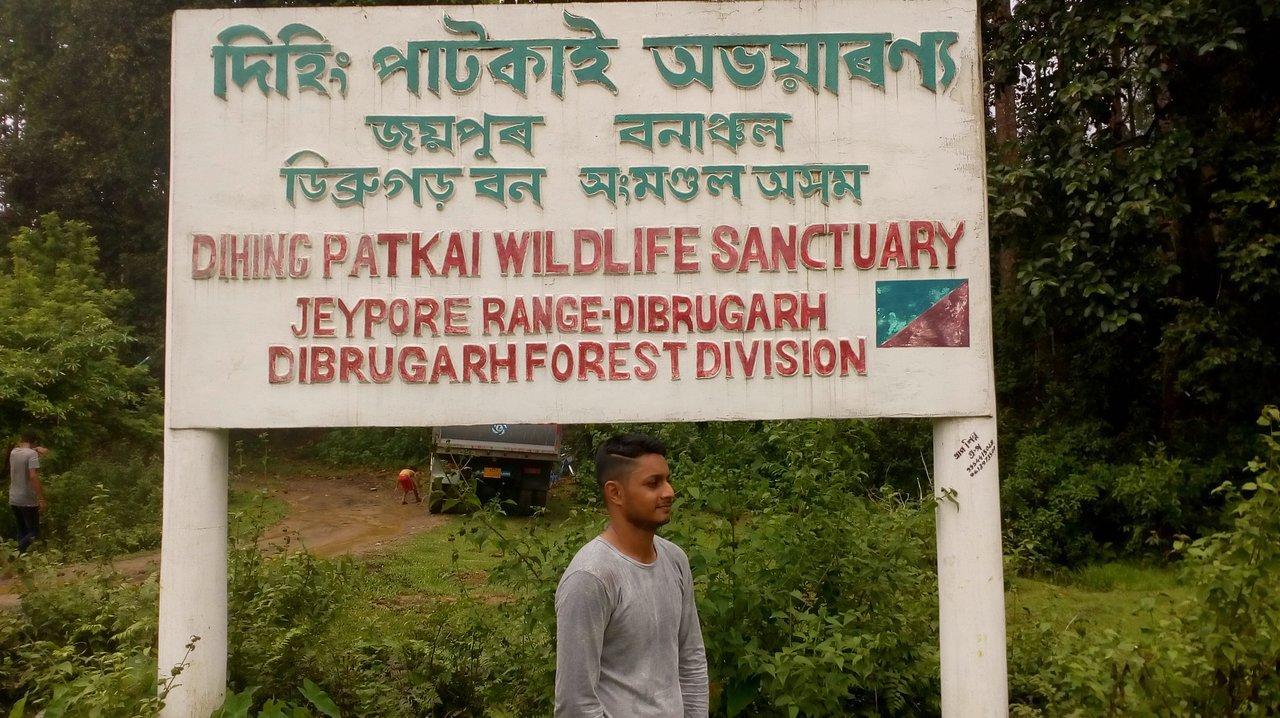 Sign Board for Dehing Patkai Wildlife Sanctuary