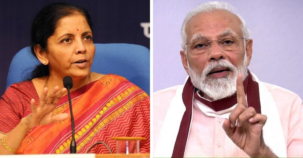 Finance Minister Nirmala Sitharama, PM Narendra Modi
