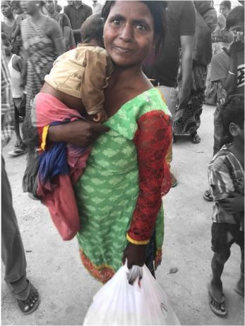 Sandhya with her child