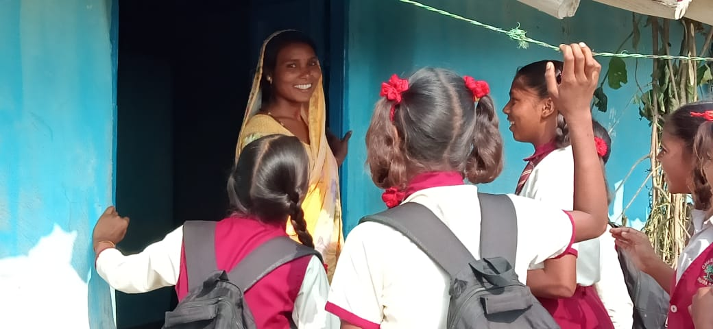 Students on a mission to inform women and girls from their neighboring village