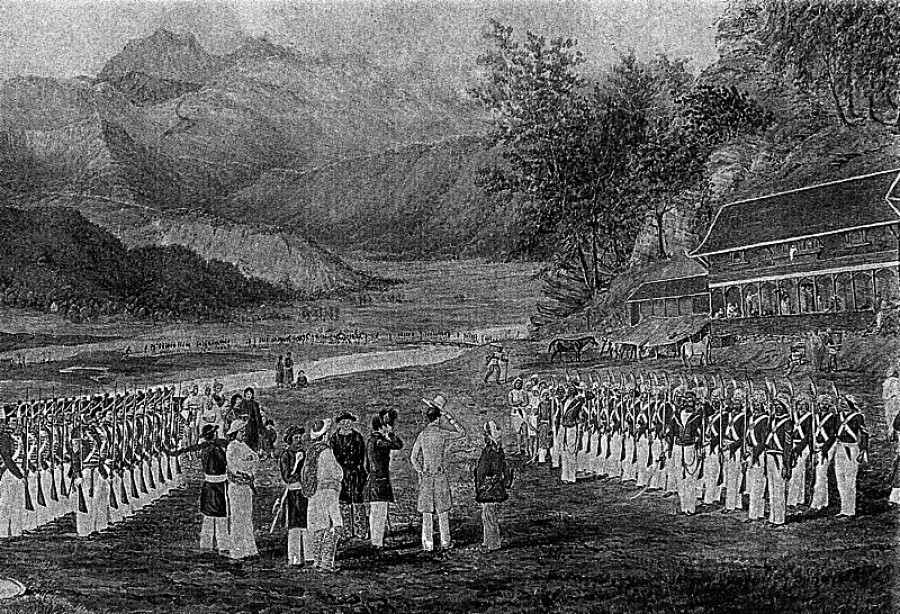 In 1815, the King of Nepal signed the 'Treaty of Sugauli'