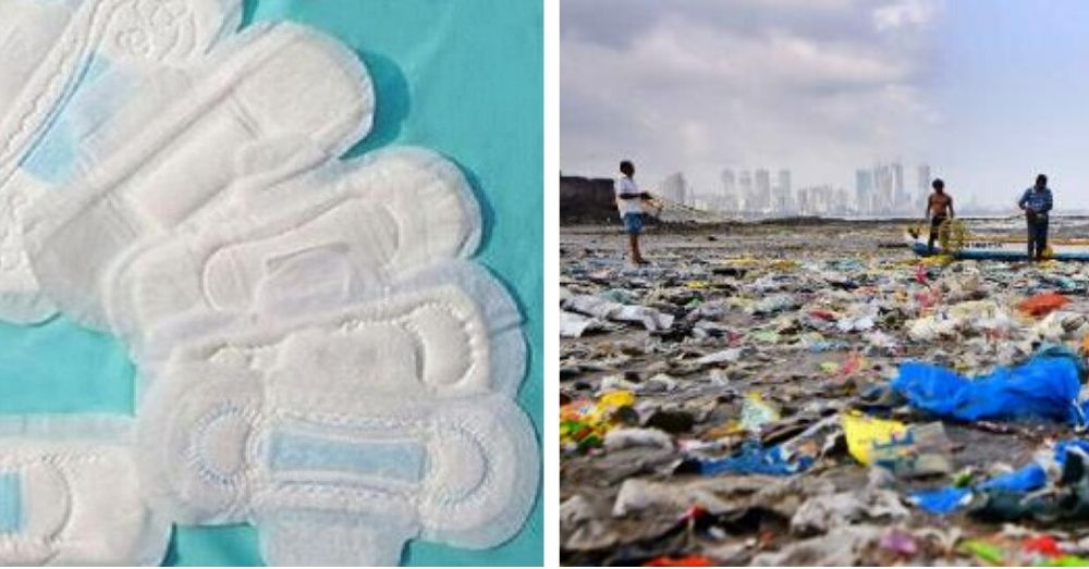sanitary pads are made of plastic which create plastic wate