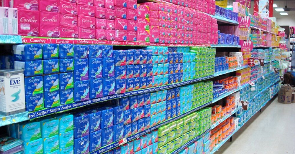 sanitary pads in the market