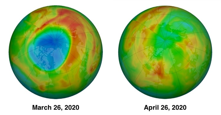 To show the changes in the ozone layer