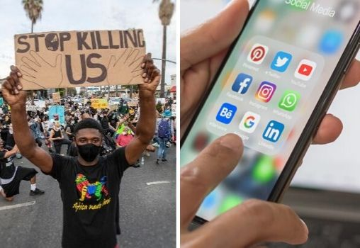 protests for george and social media