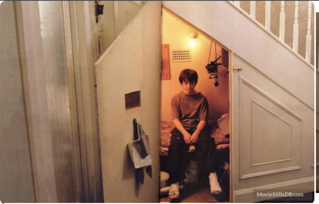 Harry Potter's Cupboard Sized Room