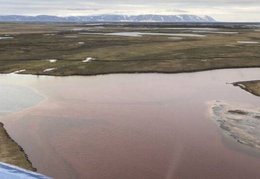 russian river arctic circle oil spill