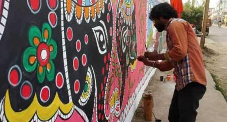 patna-decorating-mitila-painting