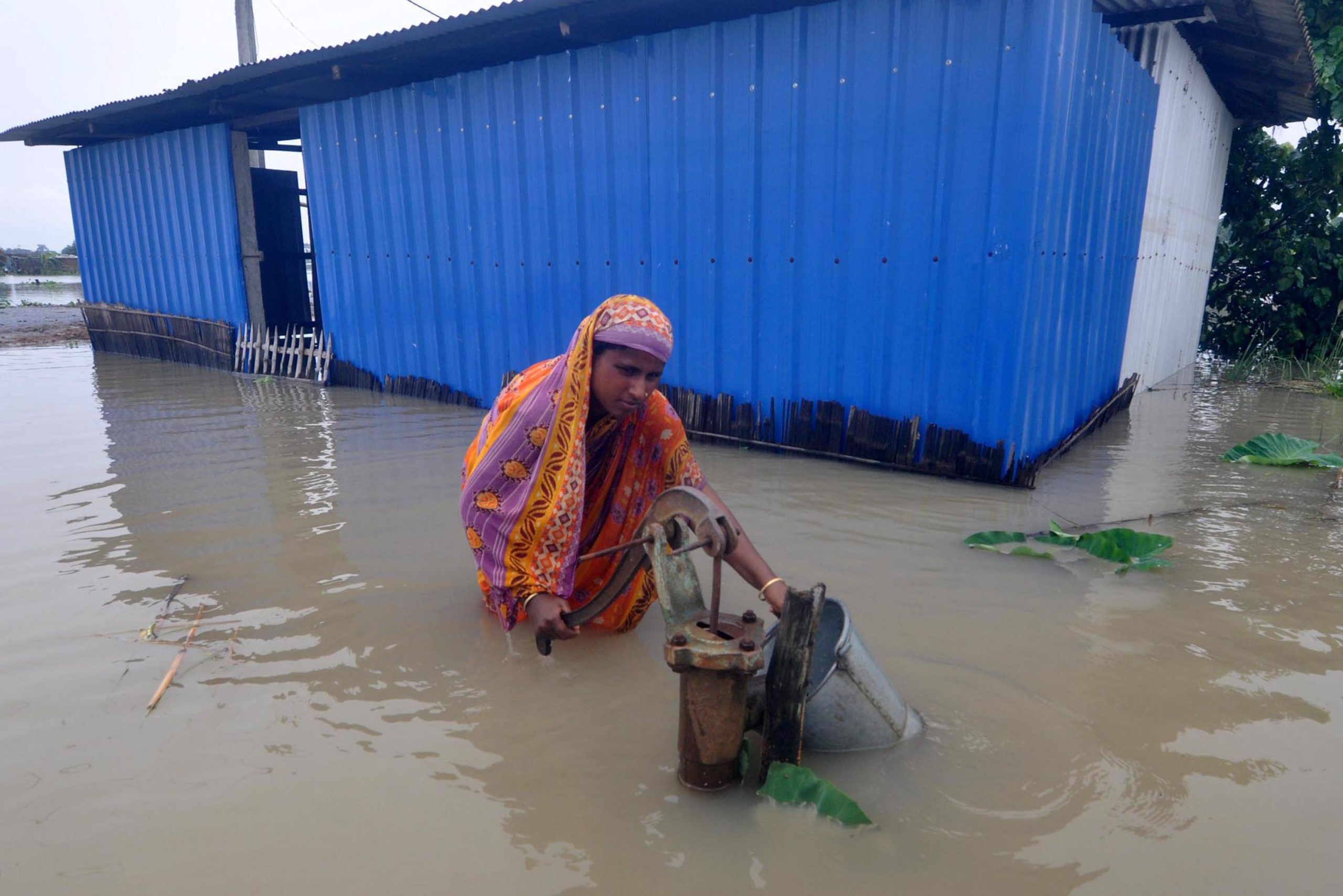 A flood-affected village in Morigaon District