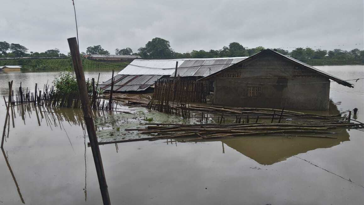 The onset of monsoon in Assam brought with it the annual recurring flood