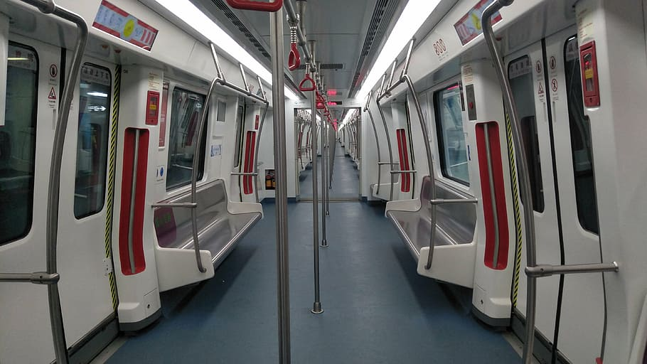 empty metro train during lockdown