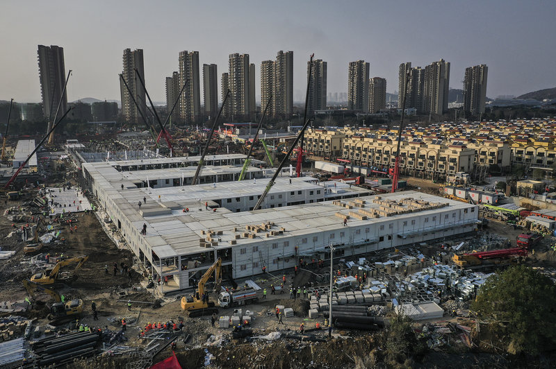 Two New Hospitals Under Construction In Wuhan