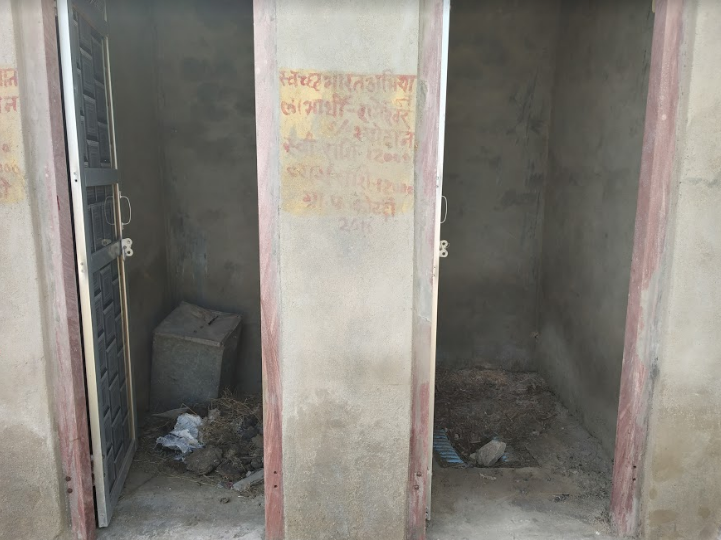 Toilets constructed for the Bagariyas under Swachh Bharat Abhiyan